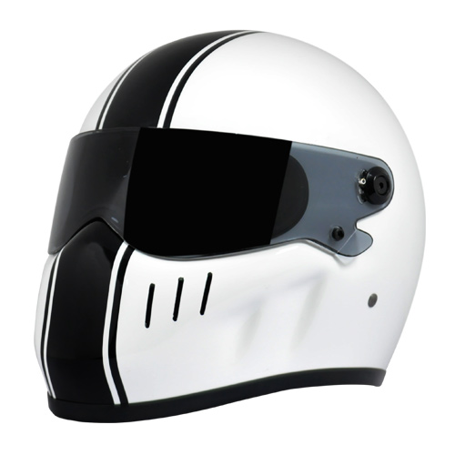 Xr Racing Classic White W Blk Stripes