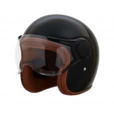 AVIATOR 3/4TH GLOSS BLK BROWN LEATHER INT